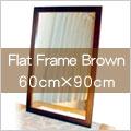 ビッグ,フラット,フレーム,ウォール,ミラー,600×900mm,鏡,壁掛け鏡,送料,無料,ダークブラウン