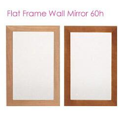 フラット,フレーム,ウォールミラー,壁掛け鏡,鏡,送料,無料,木製,ブラウン