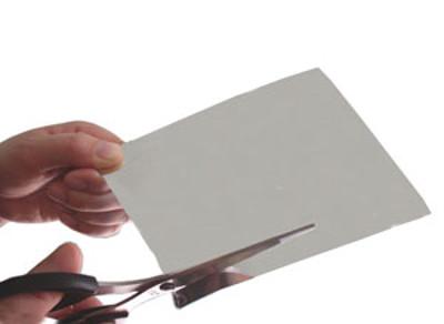 ハサミで切れる 割れない鏡 塩ビミラー [100×100mmサイズ 厚さ0.5mm] 1枚