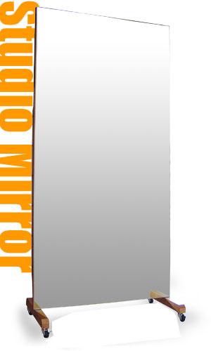 ジャンボキャスターミラー,スタジオミラー[送料無料,代引手数料無料,鏡,全身鏡]