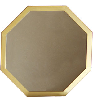 風水正八角形金の鏡