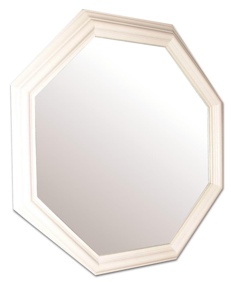 風水,八角形,鏡,ミラー,壁掛け鏡,ウォールミラー,送料,無料,ホワイト