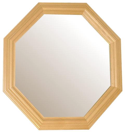風水,八角形,鏡,ミラー,壁掛け鏡,ウォールミラー,幸運,送料,無料,ナチュラル