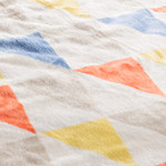 mofuaプレミアムマイクロファイバー 毛布(シングル)フラッグ柄オレンジ