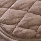 mofuaプレミアムマイクロファイバー 敷きパッド(セミダブル)ベージュ