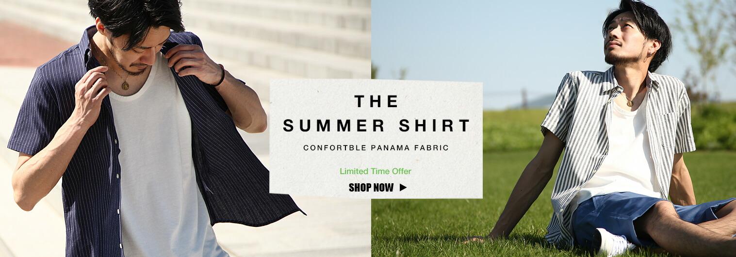 サラサラとした肌触りのパナマシャツ