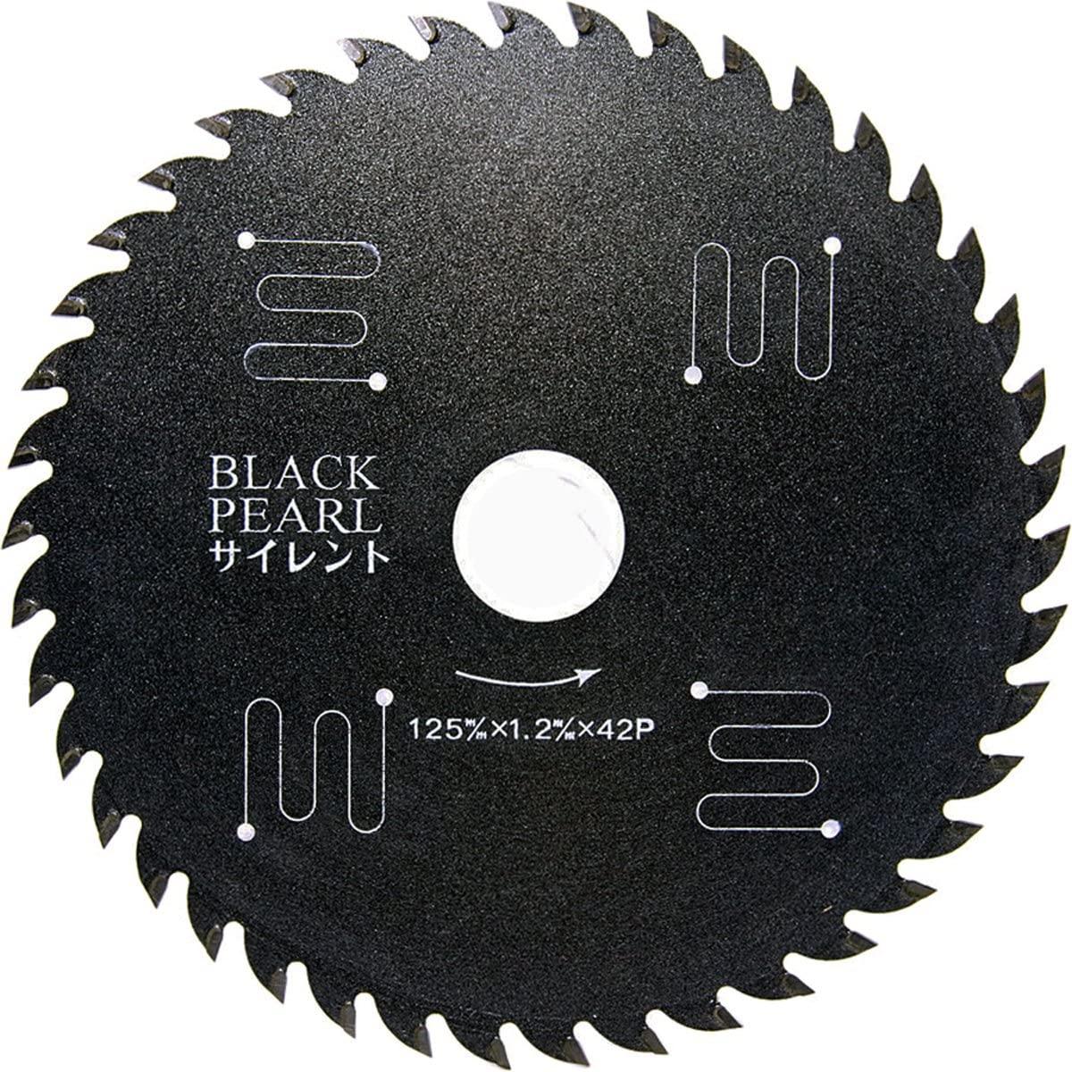 チップソー(木工用)ブラックパールサイレント 125mm×42P [MAT-BLPS-125]